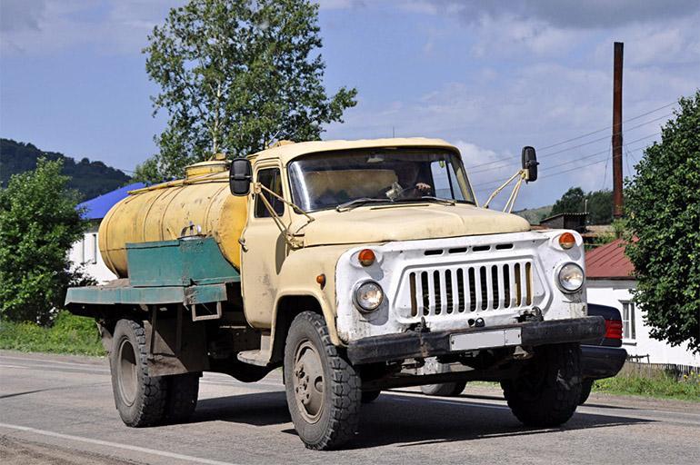 Расход топлива ГАЗ-53Ф на сельской дороге